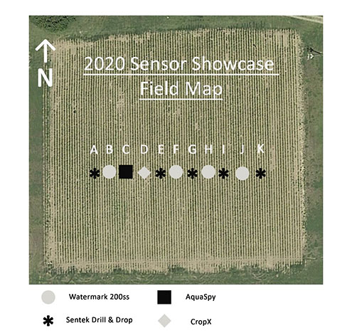 2020 Sensor Showcase Field Map